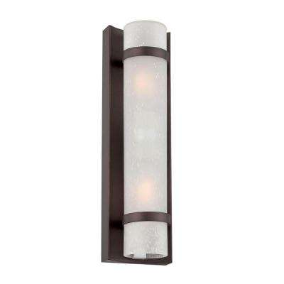 Apollo Collection 2-Light Architectural Bronze Outdoor Wall Mount Light Fixture