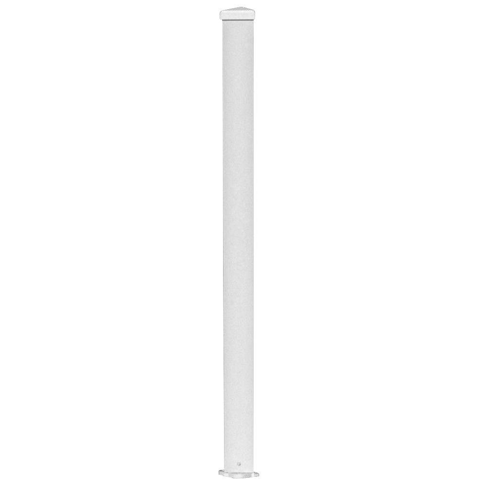 null 3 in. x 3 in. x 96 in. White Aluminum Structural Post
