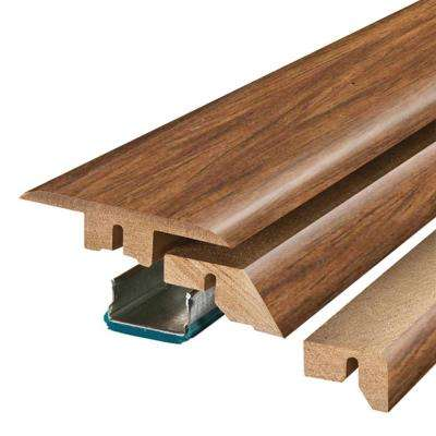 Burmese Rosewood 3/4 in. Thick x 2-1/8 in. Wide x 78-3/4 in. Length Laminate 4-in-1 Molding