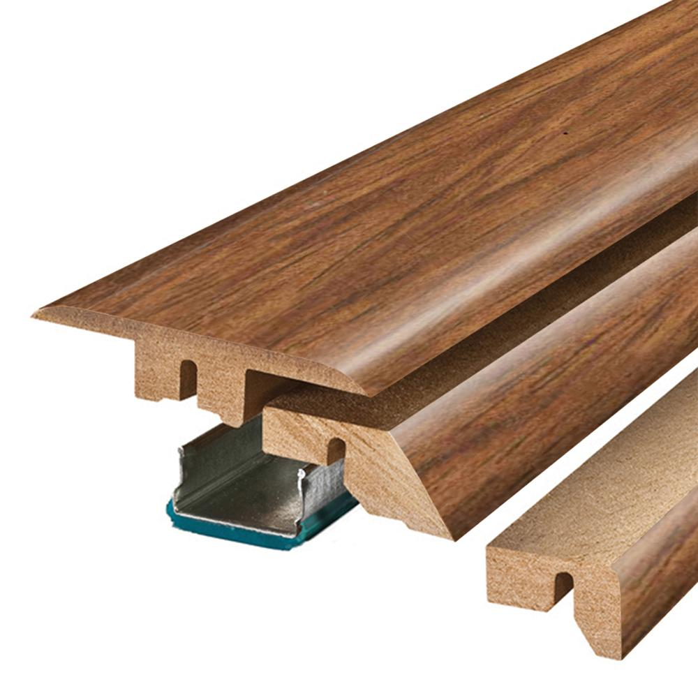 Pergo Burmese Rosewood 3/4 in. Thick x 2-1/8 in. Wide x 78-3/4 in. Length Laminate 4-in-1 Molding