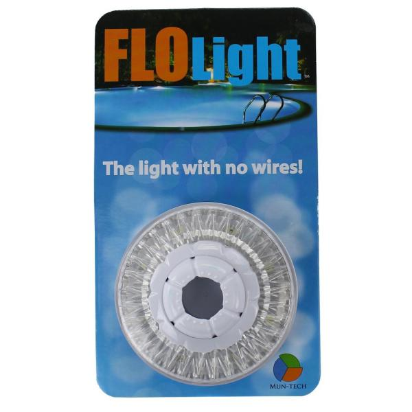 Led White Wireless Above Ground Swimming Pool Light 6 Colored Lenses Flo Light The Home Depot