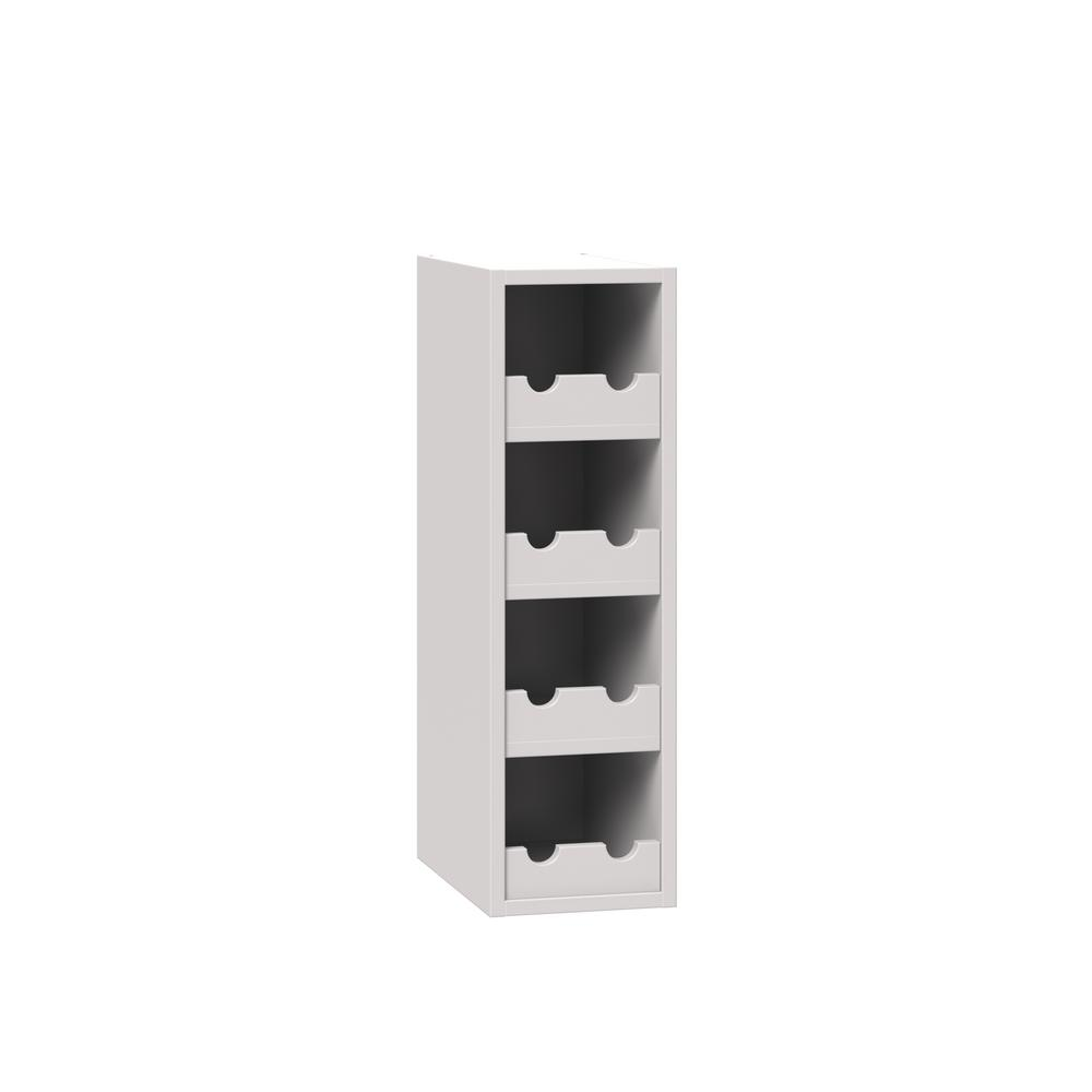 J Collection Shaker Embled 9x30x14 In Wall Wine Rack Cabinet With Matching Interior Vanilla White