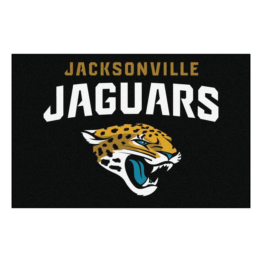NFL Jacksonville Jaguars 19 in. x 30 in. Starter Mat Indoor Accent Rug