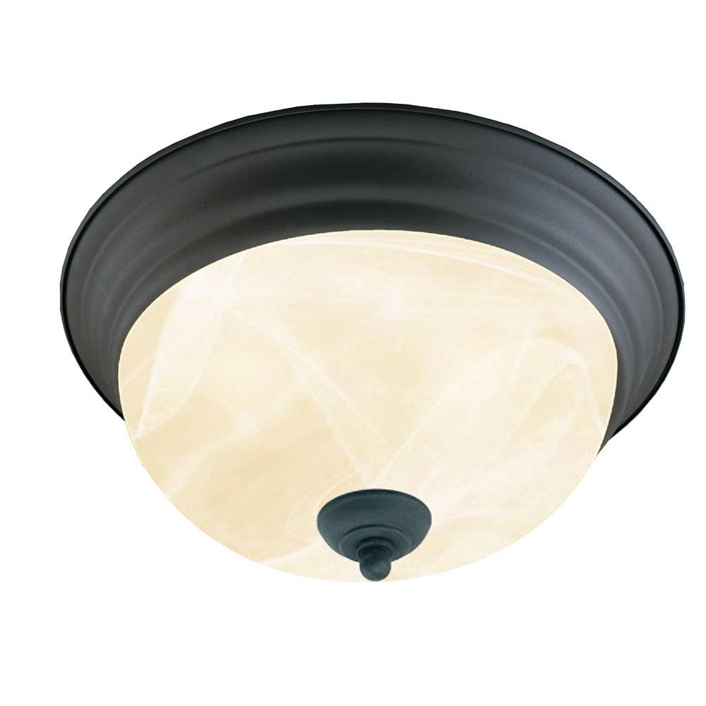 Thomas Lighting 3-Light Flush-Mount Painted Bronze Ceiling Fixture-DISCONTINUED