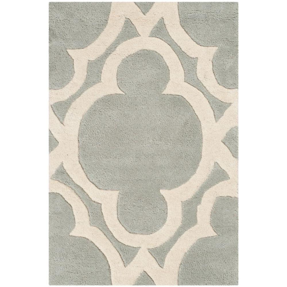 Chatham Grey/Ivory 2 ft. x 3 ft. Area Rug