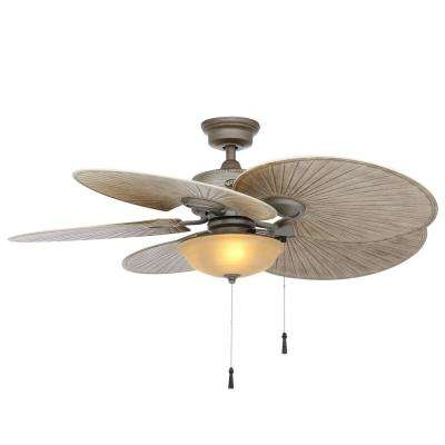 Havana 48 in. LED Indoor/Outdoor Cambridge Silver Ceiling Fan with Light Kit