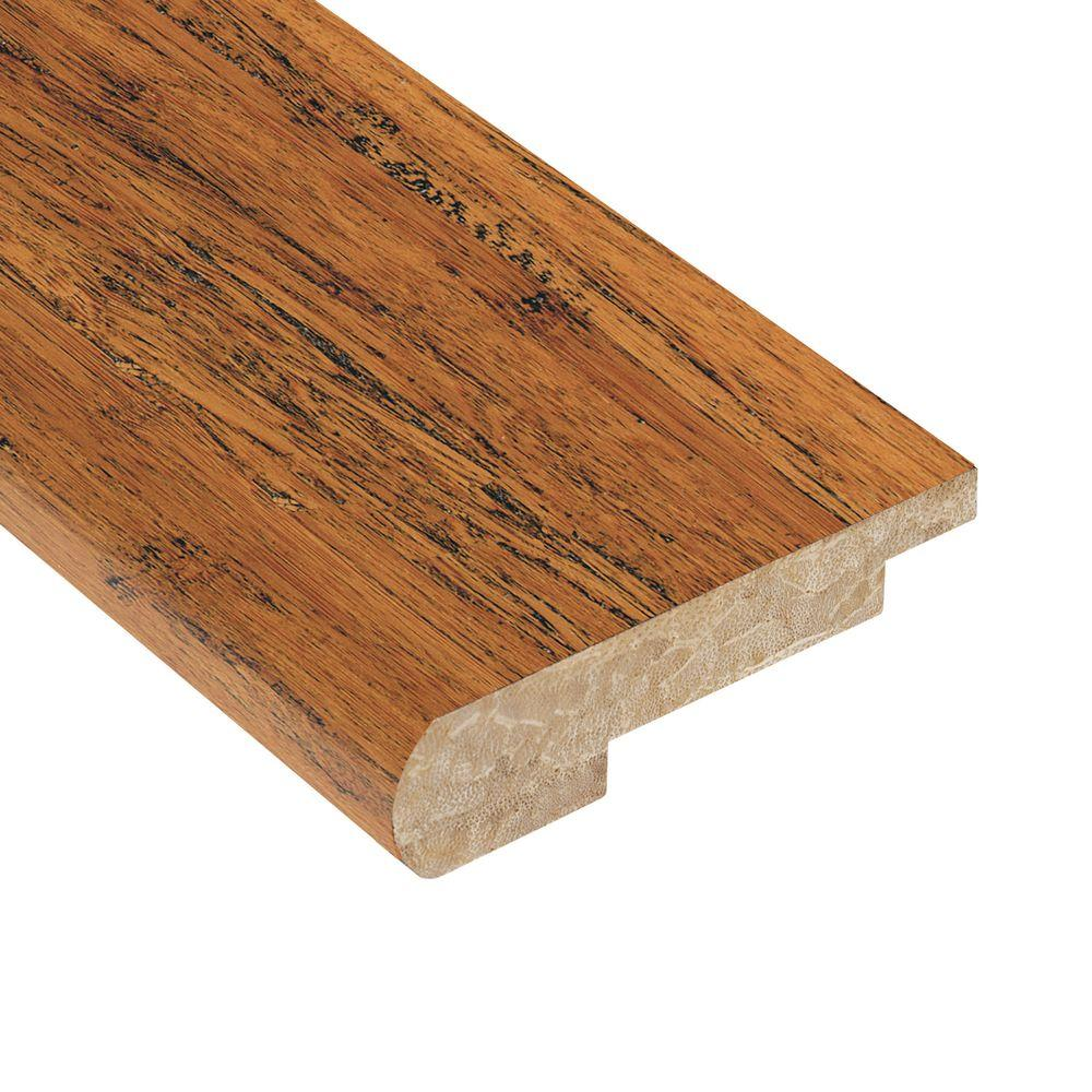 Home Legend Strand Woven Antiqued 1/2 in. Thick x 3-3/8 in. Wide x 78 in. Length Bamboo Stair Nose Molding
