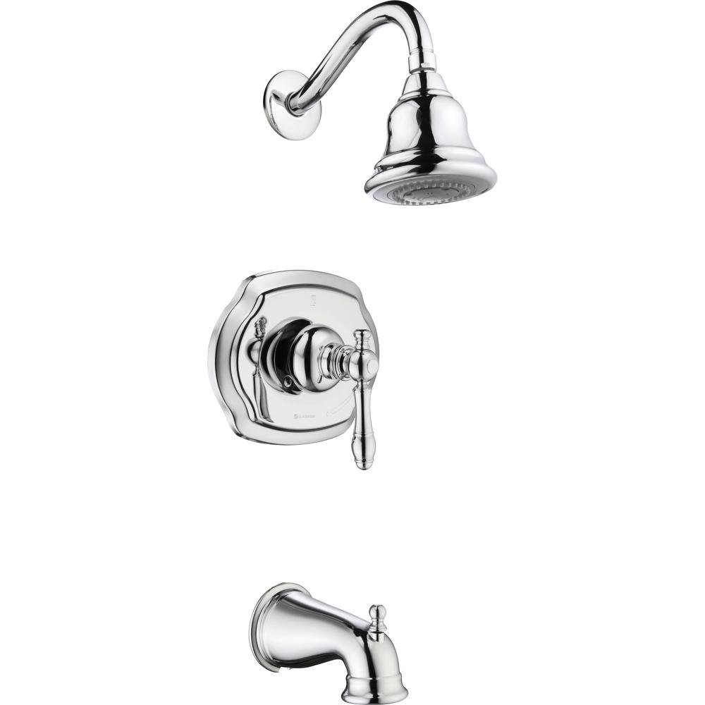 Glacier Bay Lyndhurst Single-Handle 3-Spray Tub and Shower Faucet in Chrome