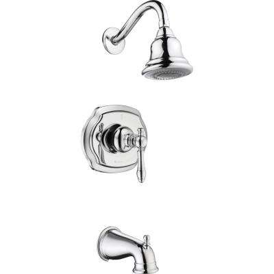 Lyndhurst Single-Handle 3-Spray Tub and Shower Faucet in Chrome