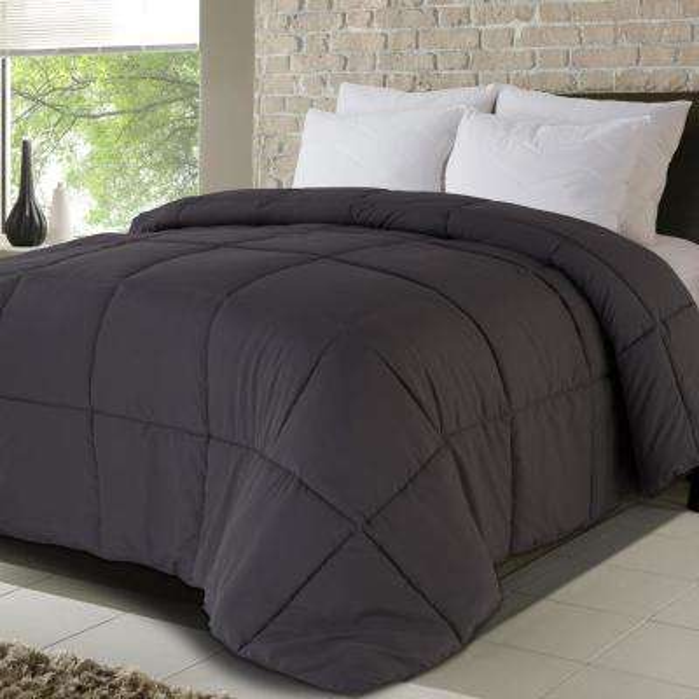 Never Down All Season Microfiber Full/Queen Down Alternative Comforters