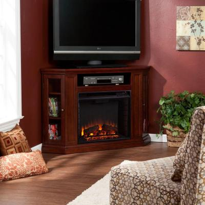 Carter 48 in. Convertible Media Electric Fireplace TV Stand in Cherry