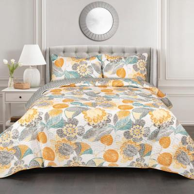 Layla Quilt Yellow/Gray 3-Piece Full/Queen Set