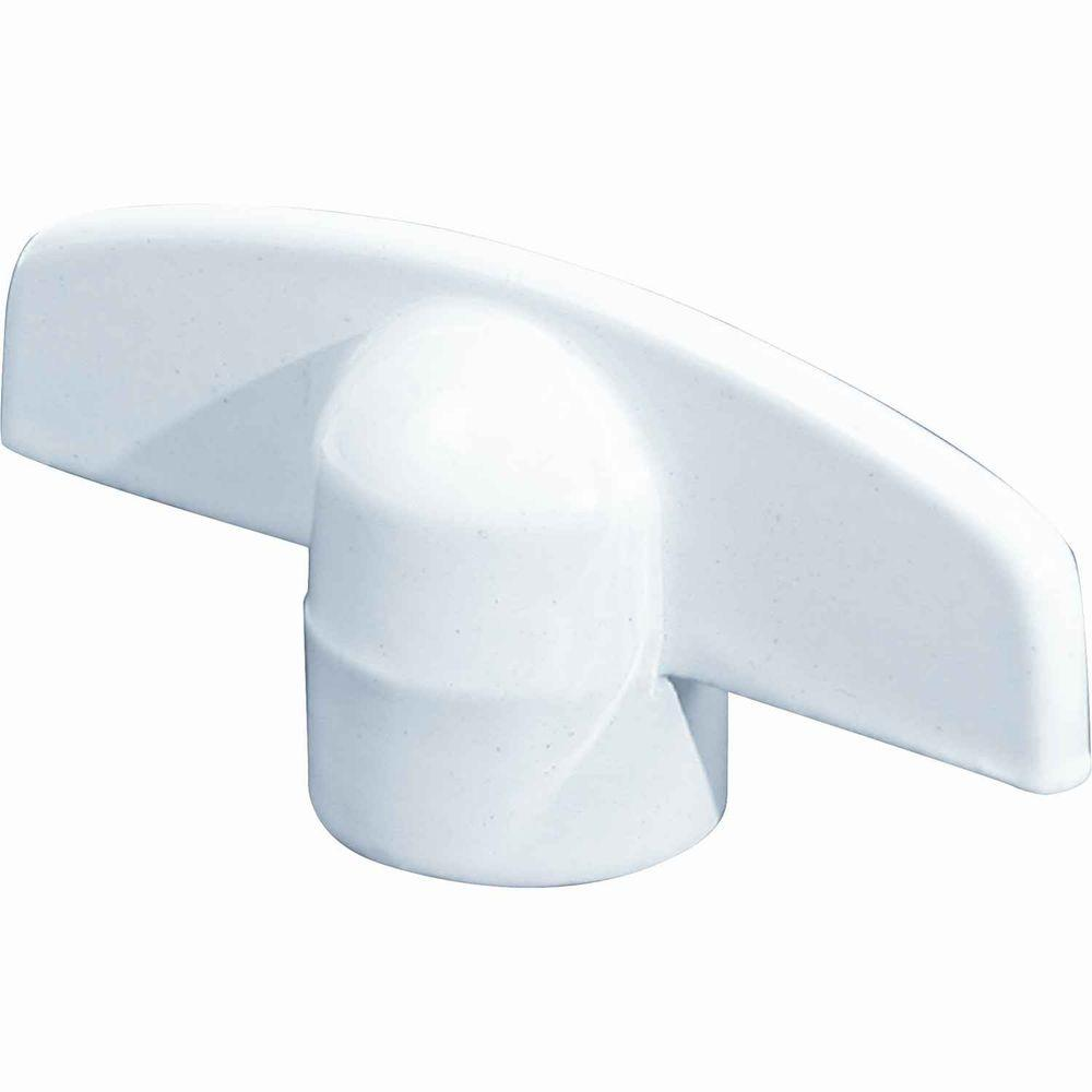Prime Line White T Crank Casement Window Handles 2 Pack
