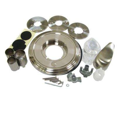 Single-Handle Tub and Shower Trim Kit for Moen Faucets in Brushed Nickel Finish (Valve Not Included)