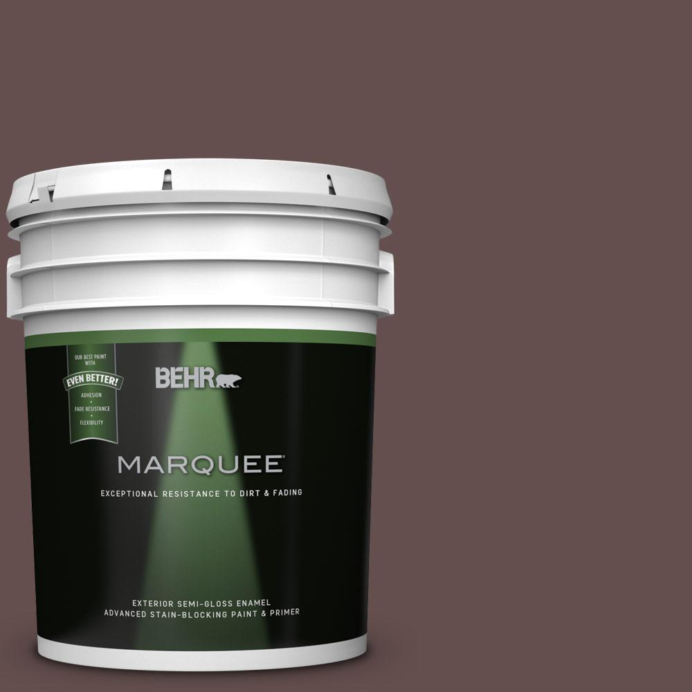 behr marquee 5 gal hdc cl 13a library leather semi gloss enamel exterior paint 545305 the. Black Bedroom Furniture Sets. Home Design Ideas