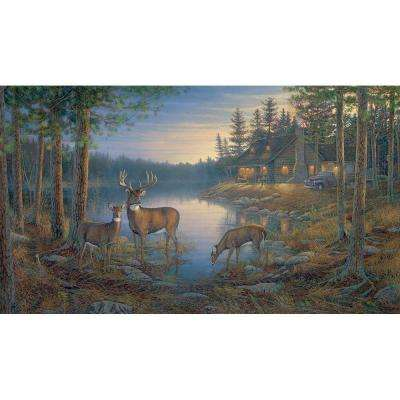 10.5 ft. x 6 ft. Quiet Places Chair Rail Wall Mural
