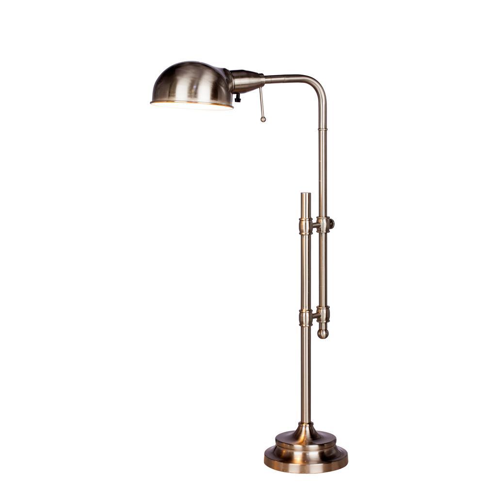 22-3/4 in. - 29 in. Brushed Steel Adjustable Metal Table Lamp