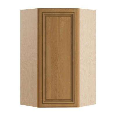 Clevedon Assembled 24x42x12 in. Single Door Hinge Right Wall Kitchen Angle Cabinet in Toffee Glaze