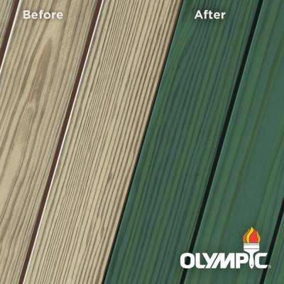 Elite 8 oz. EST940 Alligator Green Semi-Transparent Exterior Wood Stain and Sealant in One Low VOC