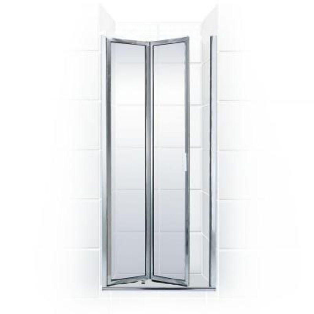 Coastal Shower Doors Paragon Series 31 in. x 67 in. Framed Bi-Fold Double Hinged Shower Door in Chrome and Clear Glass