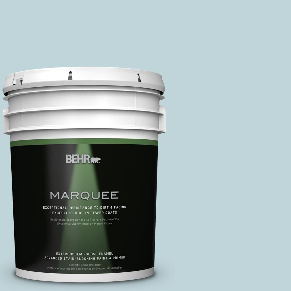 BEHR MARQUEE 5-gal. #S450-2 Wind Speed Semi-Gloss Enamel Exterior Paint