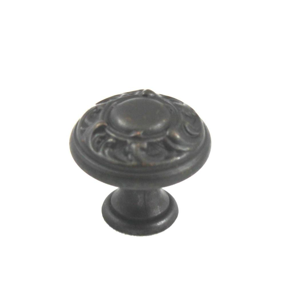 0.98 in. Diameter Solid Oil-Rubbed Bronze Round Knob