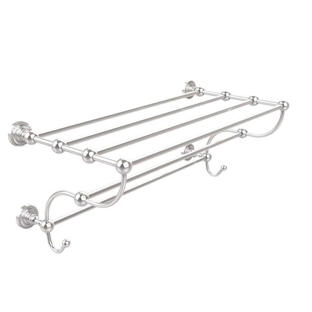 Dottingham Collection 24 in. Train Rack Towel Shelf in Polished Chrome