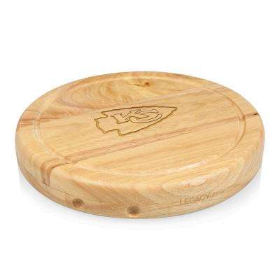 Kansas City Chiefs Circo Wood Cheese Board Set with Tools