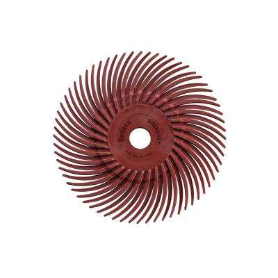 Sunburst 3 in. Radial Discs 3/8 in. 220-Grit Arbor Standard Thermoplastic Cleaning and Polishing Tool (12-Pack)