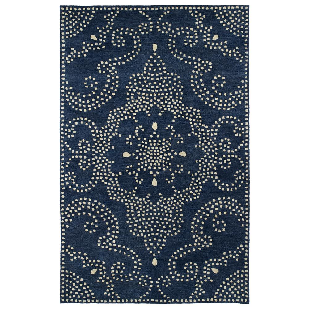 Art Tiles Navy 5 ft. x 7 ft. 9 in. Area