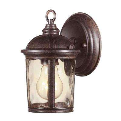 Leeds 1-Light Mystic Bronze Outdoor Wall Lantern Sconce