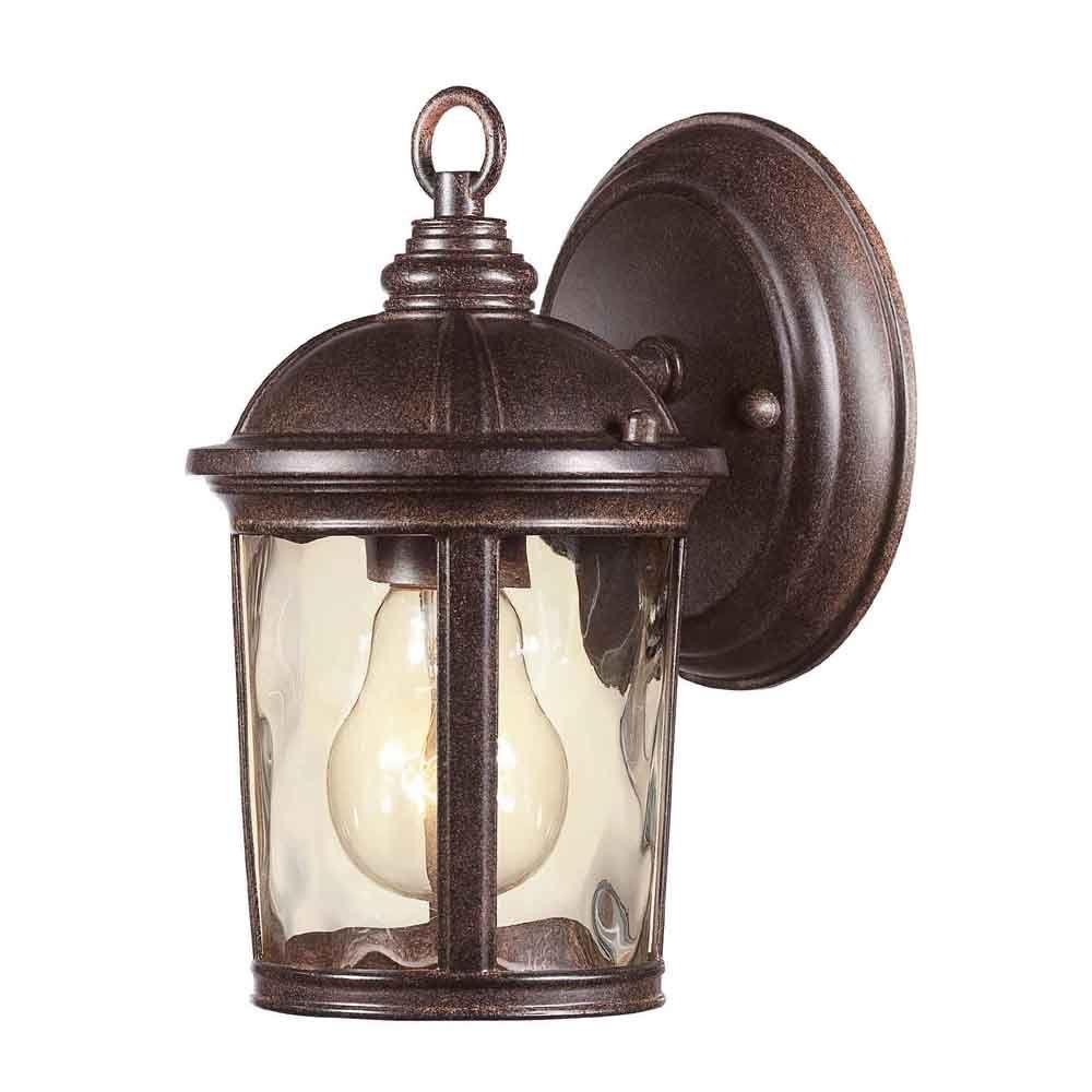 Leeds 1-Light Mystic Bronze Outdoor Wall Lantern Sconce