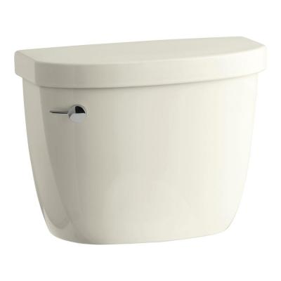 Cimarron 1.28 GPF Single Flush Toilet Tank Only with AquaPiston Flushing Technology in Biscuit