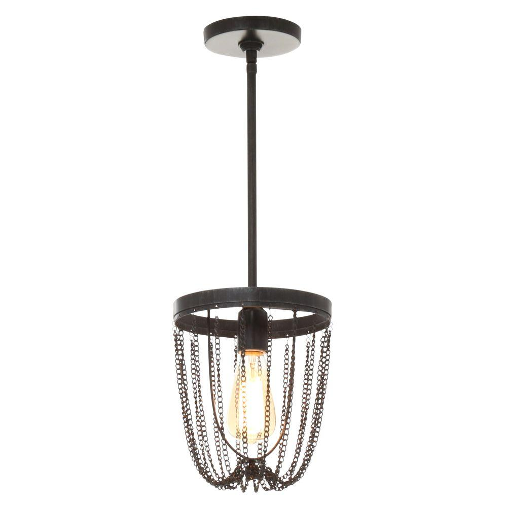 Sea Gull Lighting Kelvyn Park 1 Light Stardust Mini Pendant