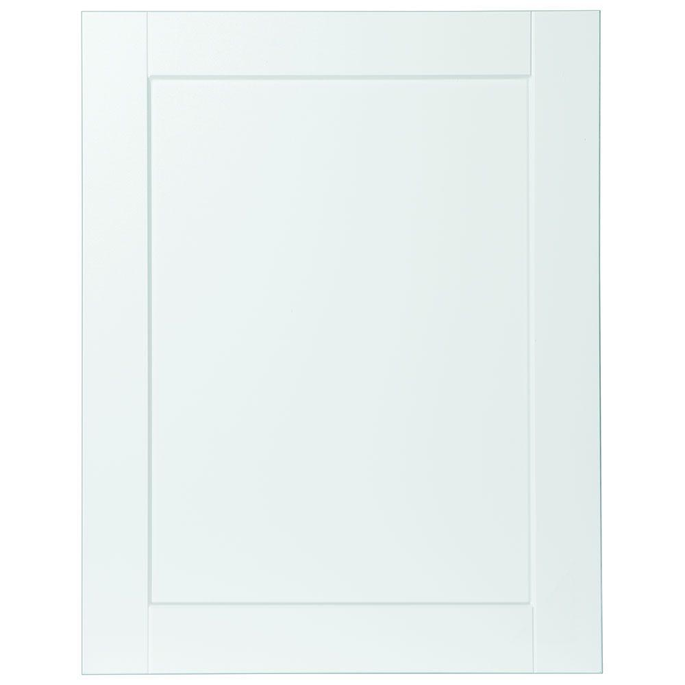 0.65x29.37x23.06 in. Shaker Base Cabinet Decorative End Panel in Satin White