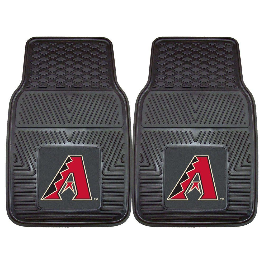 FANMATS MLB Arizona Diamondbacks Heavy Duty 2-Piece 18 in. x 27 in. Vinyl Car Mat