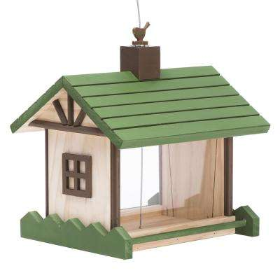 2 lbs. Mountain Lodge Wood Bird Feeder