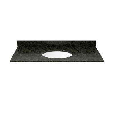 37 in. Granite Vanity Top in Uba Tuba with White Basin