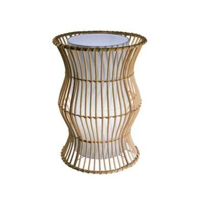 Vibe Series 16.75 in. Natural Wood Table Lamp with Natural Rattan Rods