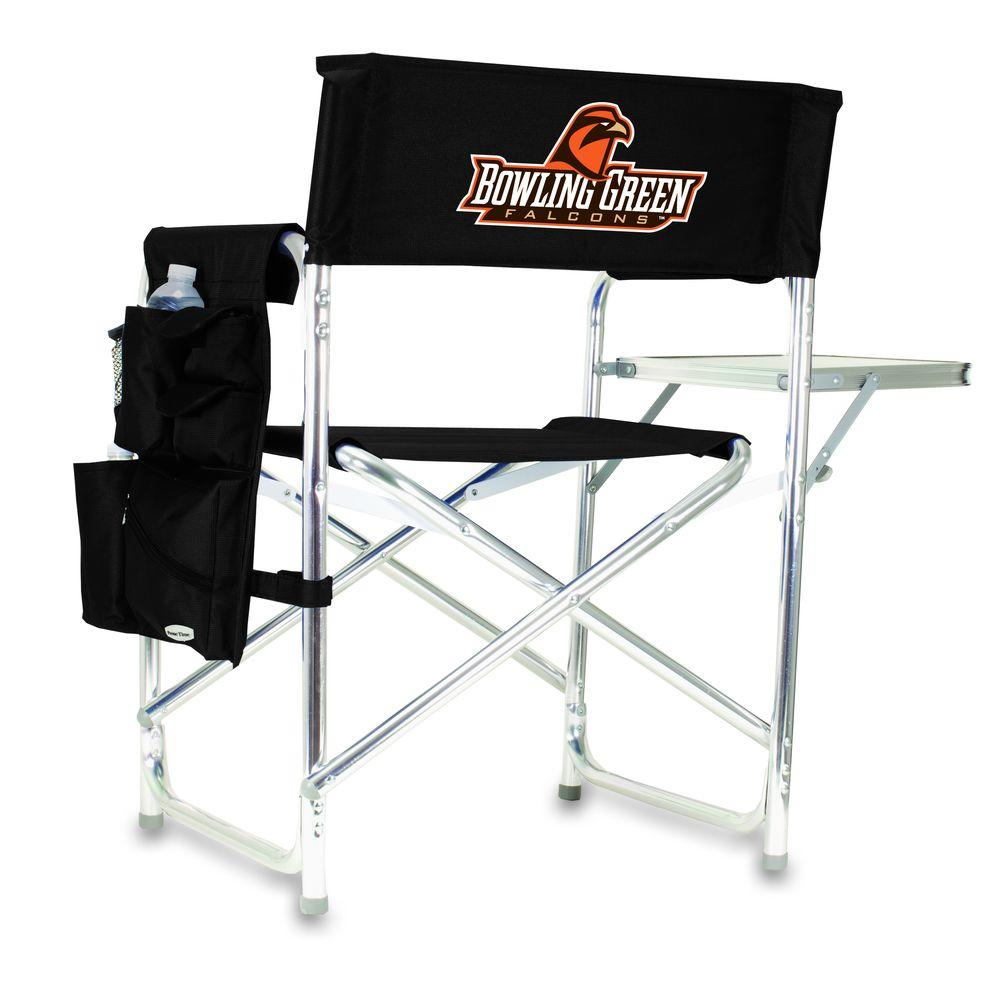 Picnic Time Bowling Green University Black Sports Chair with Digital Logo