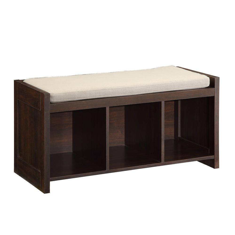 Home Decorators Collection Espresso Storage Bench Sk19067a1 The Home Depot
