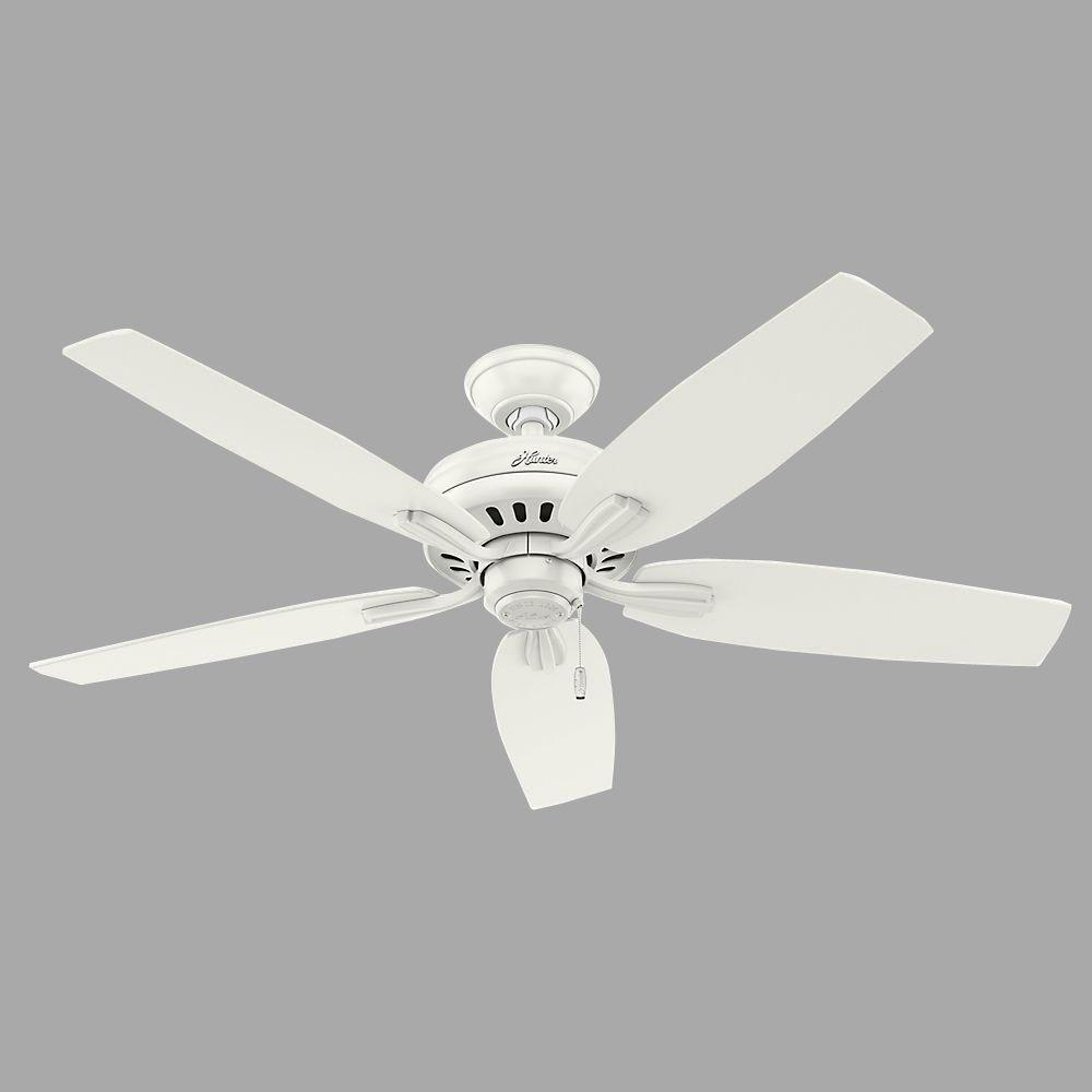 Hunter Newsome 52 in. Indoor Fresh White Ceiling Fan