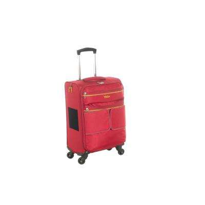 Red Connectable Carry-On Suitcase