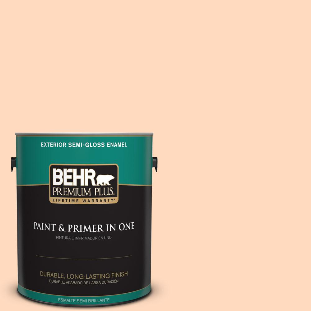 1-gal. #P210-2 Citrus Delight Semi-Gloss Enamel Exterior Paint