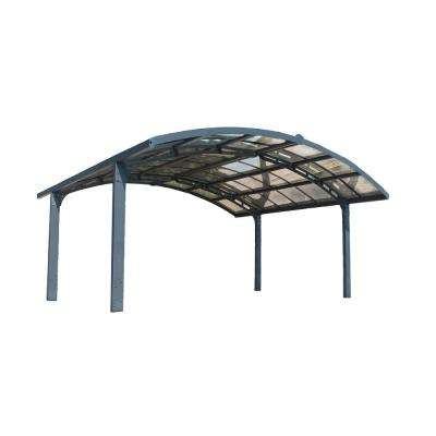 Arizona 19 ft. x 16 ft. 3 in. x 9 ft. H Double Carport Breeze Arch with Solid Clear Polycarbonate Roof Panels