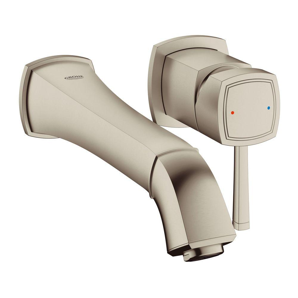 GROHE Grandera Single-Handle Wall-Mount Roman Bathtub Faucet in ...