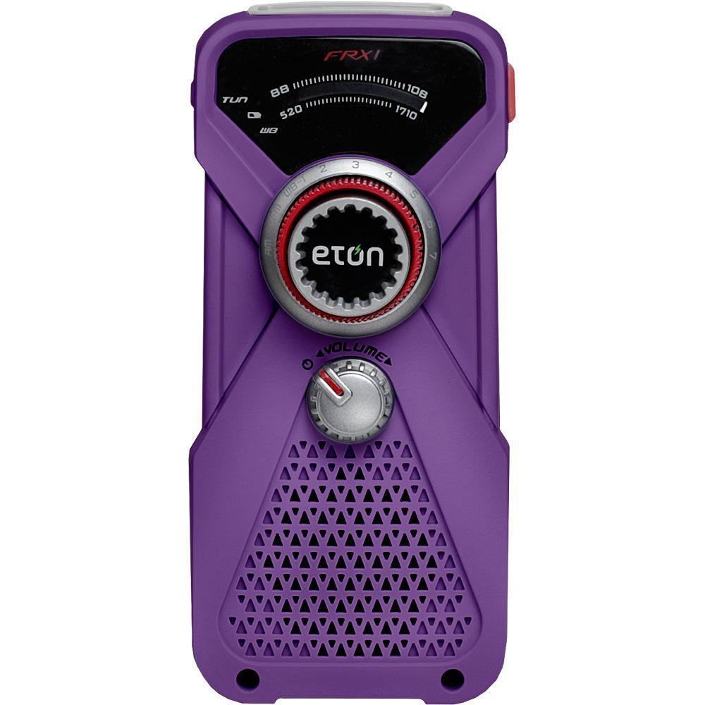 Eton FRX1 Weather Radio and Flashlight in Purple