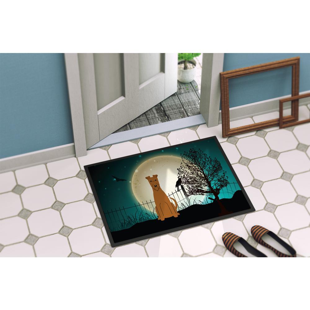 Caroline S Treasures 24 In X 36 In Indoor Outdoor Halloween Scary Irish Terrier Door Mat Bb2252jmat The Home Depot