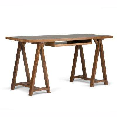 Sawhorse Medium Saddle Brown Desk