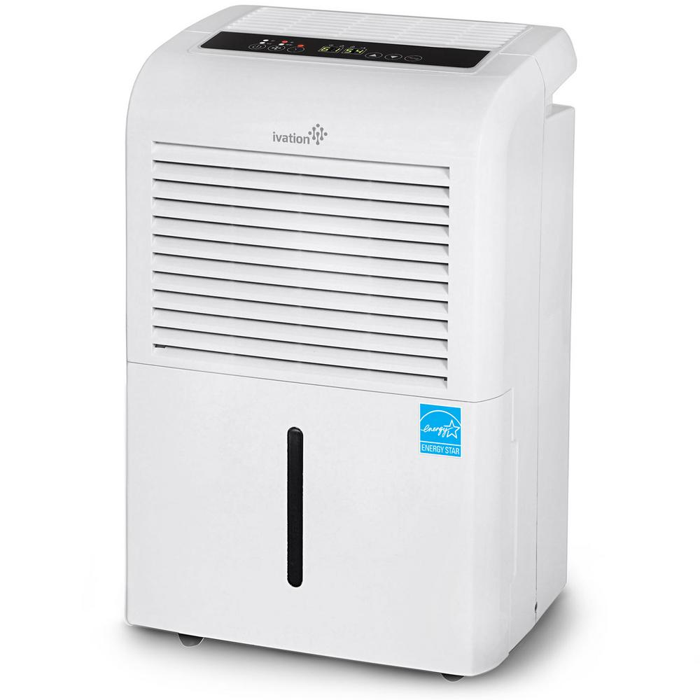 Ivation Ivation 70-Pint ENERGY STAR Compressor Dehumidifier for with  Programmable Humidistat & Hose Connector upto 4,500 sq  ft
